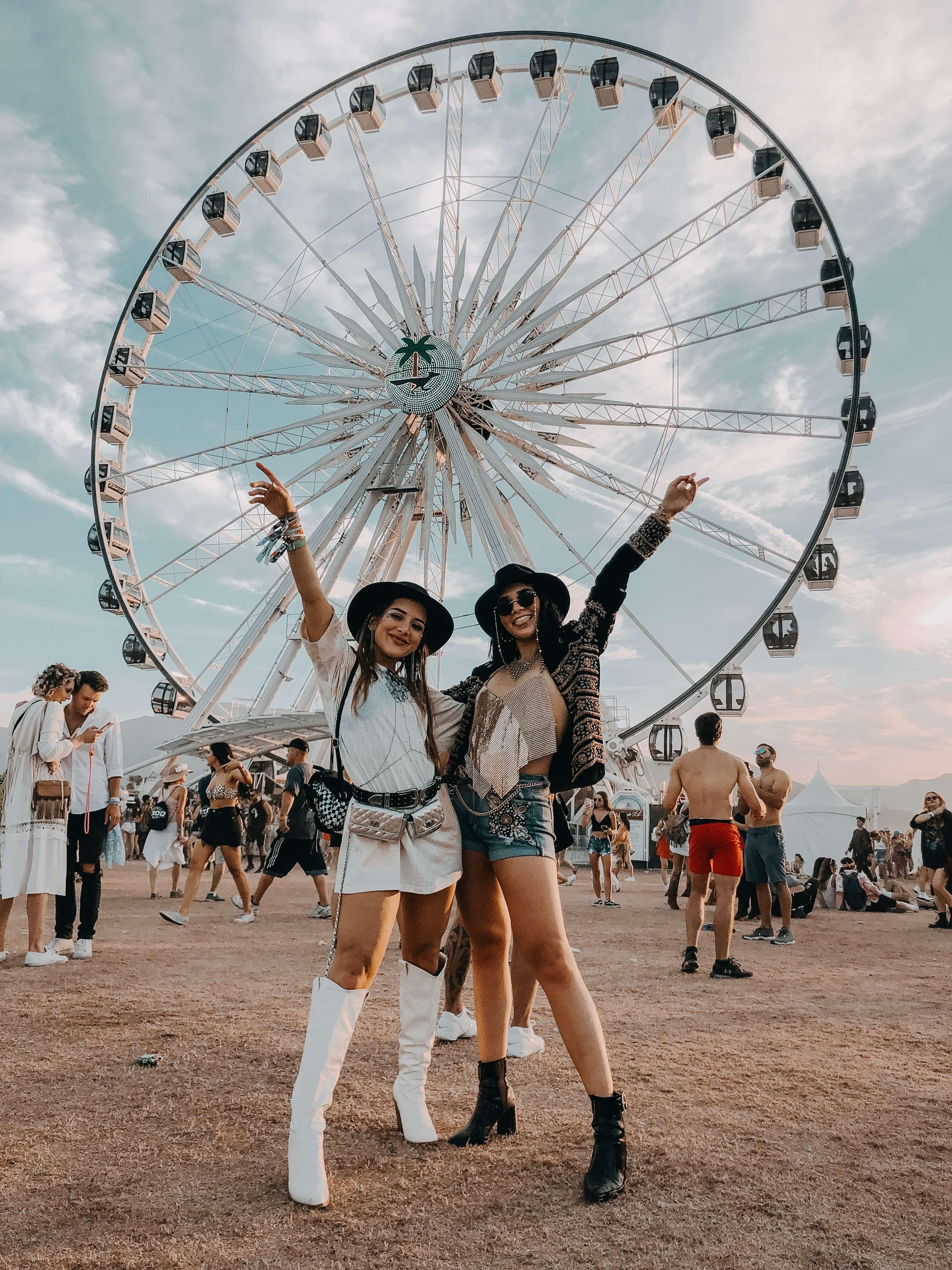 foto con amigan en el festival